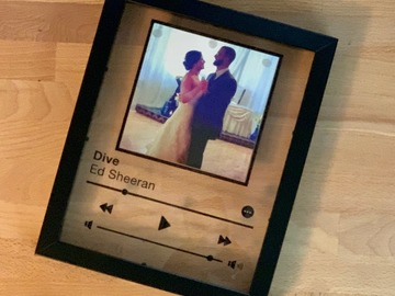 Selling with online payment: Custom Music Plaque Picture Frame