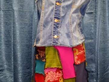 Selling with online payment: Upcycled Boho Vest Dress