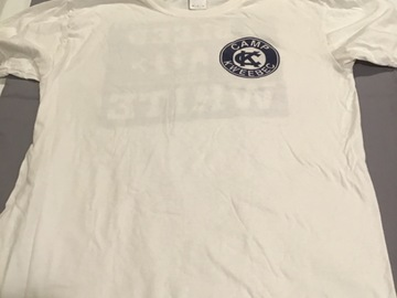 Selling multiple of the same items: Blue and white shirt