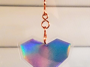 Selling with online payment: Three of Hearts Mini Rainbow Suncatcher