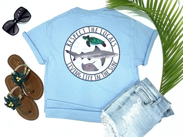 Selling with online payment: Respect The Locals Beach Tee