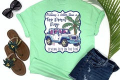 Selling with online payment: Top Down Day Beach Tee