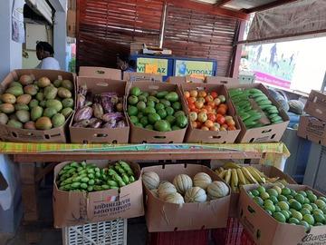 Vente avec paiement en direct: Fruits et légumes locaux