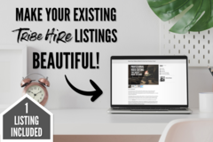 Offering online services: Beautify Your Tribe Hire Listings (1 Listing)