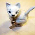 Vente: Figurine petit chaton blanc