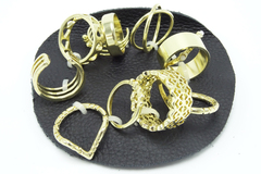 Buy Now: Dozen New Free People Gold Ring Sets $456 Value