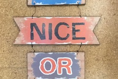 Selling with online payment: Be Nice Or Leave Sign