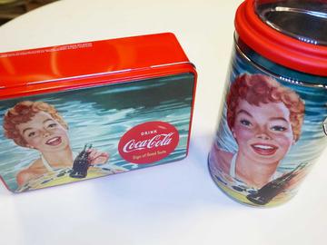Vente: Lot de 2 boites à sucres COCA COLA