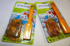 Vente: 2 packs de jetons aimantés à BINGO
