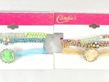 Liquidation/Wholesale Lot: Dozen Rhinestone Bracelet Sets by Candies $240 Value