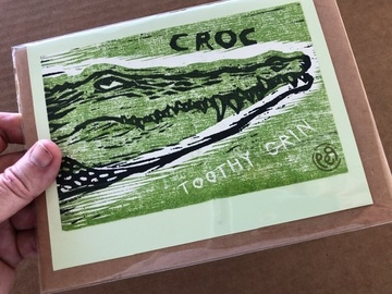 Selling with online payment: Gator and Croc Handmade Notecards