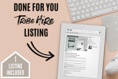 Offering online services: Done For You - 1 Tribe Hire Listing
