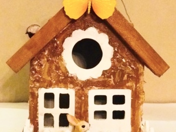 Selling with online payment: Rabbit Birdhouse