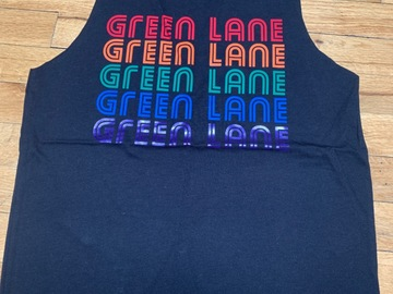 Selling A Singular Item: Green Lane Rainbow Repeat Tank