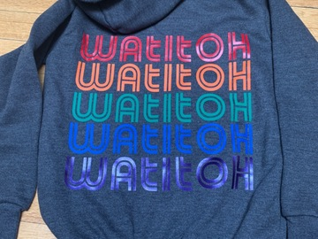 Selling A Singular Item: Watitoh rainbow repeat zip hoodie