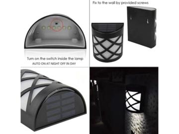 Buy Now: SPOTLIGHT SOLAR WALL LIGHT IN LATTICE DESIGN