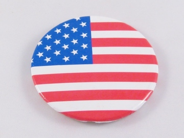 Liquidation/Wholesale Lot: 50 Dozen ( 600 pc) American Flag USA Button Pins