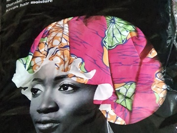 For Sale: African Silk Satin Bonnet
