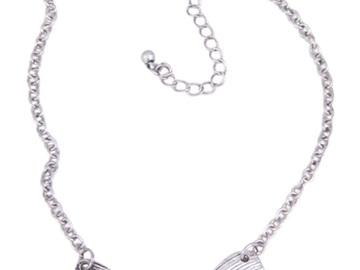 Liquidation/Wholesale Lot: Dozen Wholesale Silver Bow Pendant Necklaces