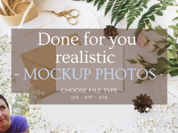 Offering online services: Let me put together your product photo mockups!