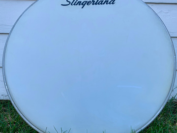 "Selling with online payment: Vintage (60's/70's) Slingerland 22"" logo head"