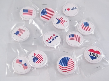 Buy Now: 28 Dozen Assorted USA American Flag Button Pins