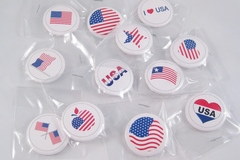 Liquidation/Wholesale Lot: 28 Dozen Assorted USA American Flag Button Pins
