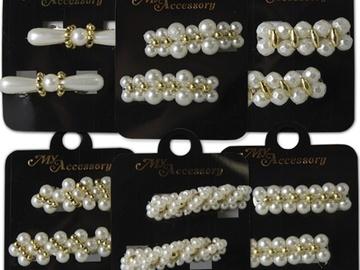 Buy Now: 600 pcs-- Hair Barrettes-- pearl beaded barrettes $ .16 pcs