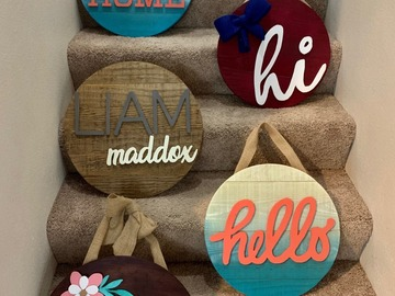 Selling with online payment: Custom Wood Door Hanger