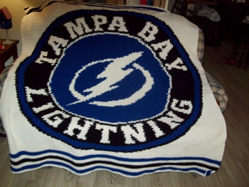 Selling with online payment: Tampa Bay Lightning Afghan