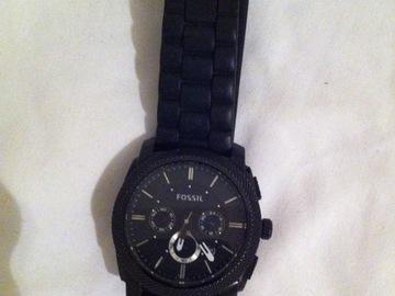 Vente: Montre noir Fossil - Bracelet Soft Touch