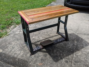 Selling with online payment: Repurposed Yardstick Table