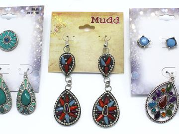 Liquidation/Wholesale Lot: Dozen Southwestern Style Department Store Earrings