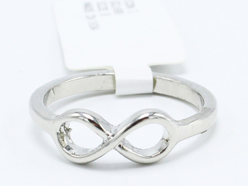 Buy Now: 24 New Silver Tone Infinity Rings in Various Sizes