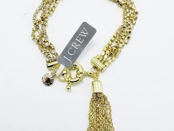 Buy Now: Dozen Gold J.Crew Rhinestone Tassel Bracelets $900 Value