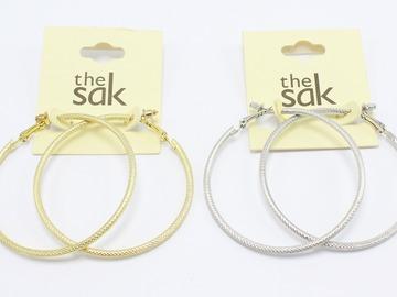 Buy Now: Dozen New Gold & Silver Hoop Earrings by the Sak $264 Value