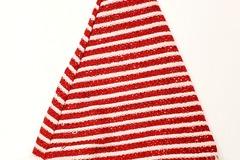 Buy Now: Traditional Santa Hat – Red/White Sparkle Stripe Design