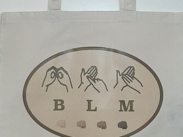 For Sale: BLM Tote Bag in British Sign Language