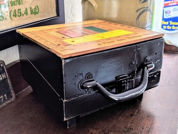 Selling with online payment: Repurposed Vintage Shoe Shine Box