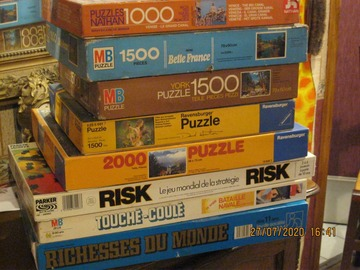 Vente: vend 5 puzzles 3 jeux de sociétés