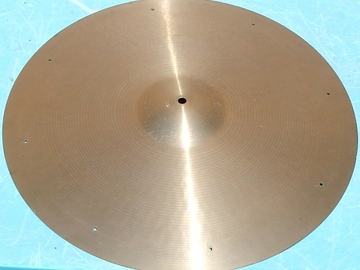 """Selling with online payment: 1960s PAISTE Formula 602 20"""" ride cymbal."""