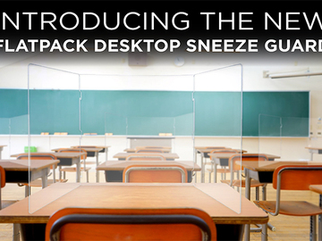 Sell your product: Flatpack Desktop Sneeze Guard