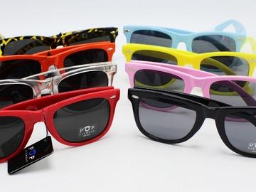 Liquidation/Wholesale Lot: Dozen New Wayfarer Style Sunglasses in Assorted Colors