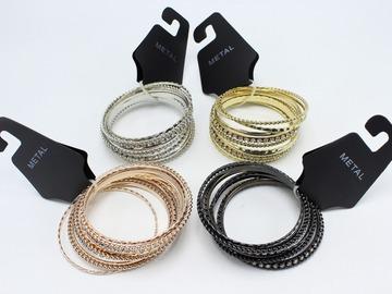 Buy Now: Dozen New Rhinestone Bangle Bracelet Sets  $288 Value