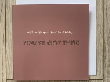 For Sale: Walk With Your Head Held High Greeting Card