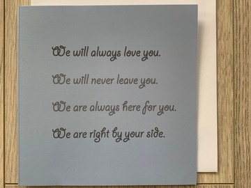 For Sale: We Will Always Love You Greeting Card