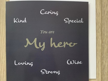 For Sale: You Are My Hero Greeting Card