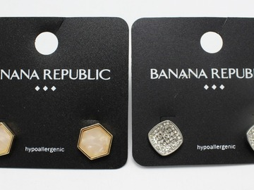 Liquidation/Wholesale Lot: Dozen Banana Republic Stud Earrings
