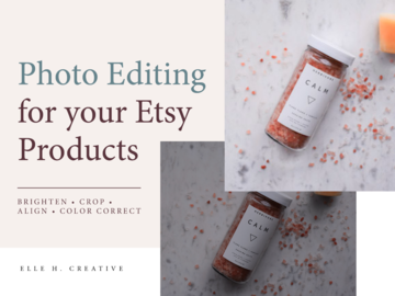 Offering online services: Photo Editing for Your Etsy Products [Up to 10 Photos]