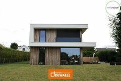 .: Houtskeletbouw met crepi en cederhout | door Dewaele